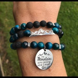 The mountains are calling diffuser bracelet stack